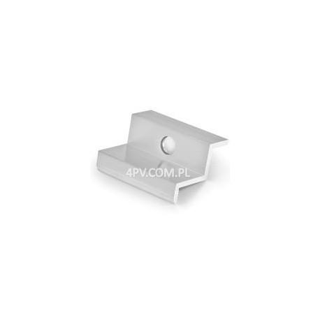 Klema boczna / końcowa PV do paneli o grubości ramy 30 mm (srebrna)